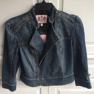 Juicy Couture Moto denim  jean jacket NWT $228